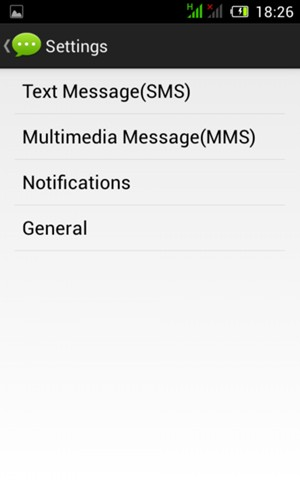 Select Text Message(SMS)