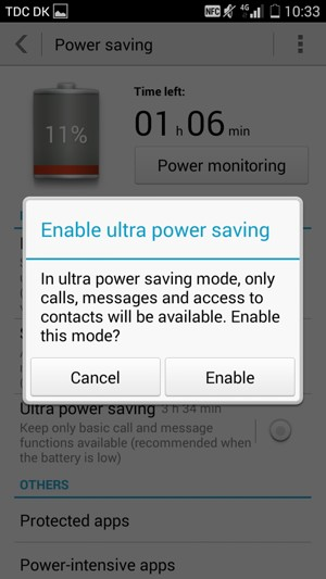 how to turn off ultra power saving mode s7