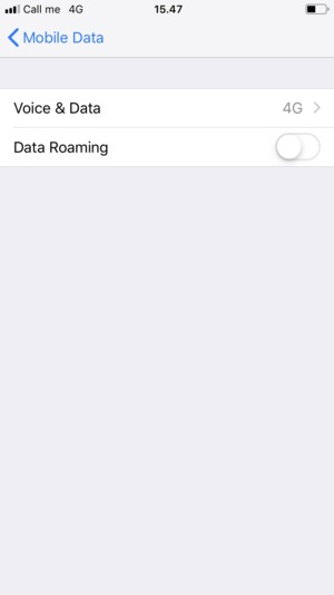 Set Data Roaming to ON or OFF