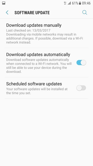 Update software - Samsung Galaxy Note5 - Android 7 0 - Device Guides