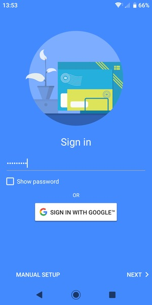 Enter your Gmail password and select NEXT