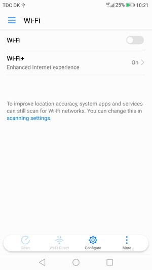 Connect to Wi-Fi - Huawei P8 Lite (2017) - Android 7 0
