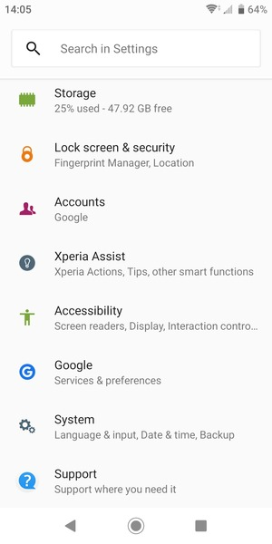 Scroll to and select Lock screen & security