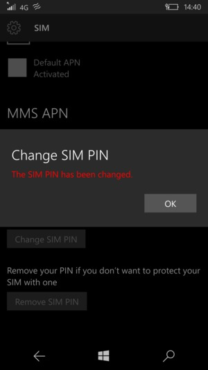 Your SIM PIN has been changed