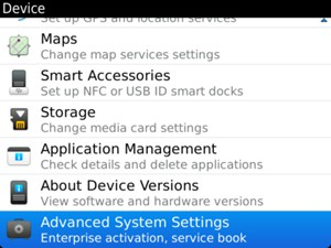 Scroll to and select Advanced System Settings