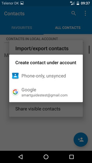 Import contacts - ZTE Blade A512 - Android 6 0 - Device Guides