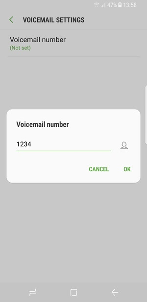 Access voicemail - Samsung Galaxy S8 - Android 7 0 - Device Guides