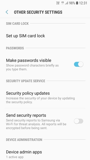 Secure phone - Samsung Galaxy J4 - Android 8 0 - Device Guides