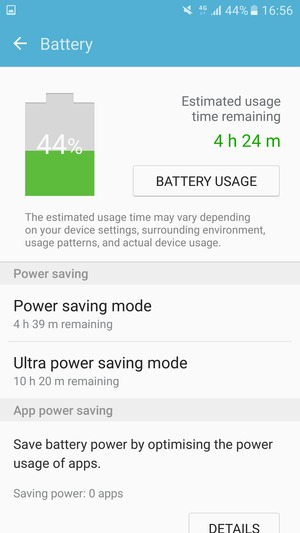 Select Ultra power saving mode