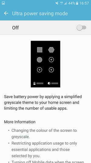 Turn on Ultra power saving mode