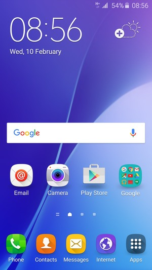 Set up Internet - Samsung Galaxy J3 (2016) - Android 5 1