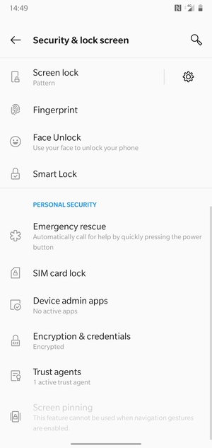 Select SIM card lock