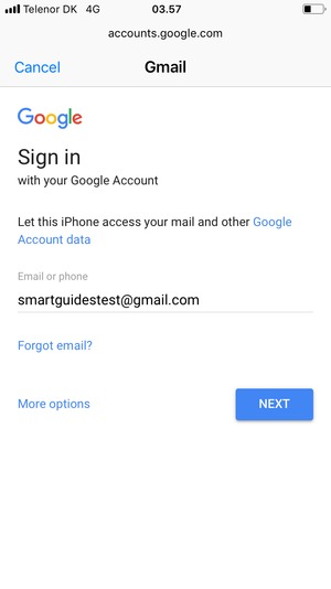 Set up Gmail - Apple iPhone 8 - iOS 11 - Device Guides