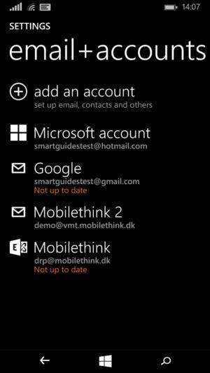 Import contacts - Microsoft Lumia 535 - Windows Phone 8 1