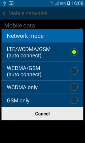 Switch between 3G/4G - Samsung Galaxy Ace 4 - Android 4 4