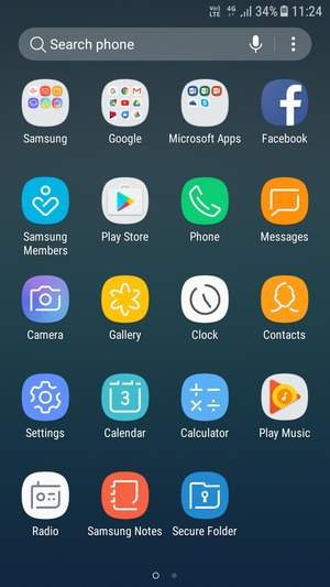 Switch between 3G/4G - Samsung Galaxy J3 (2017) - Android 7 0