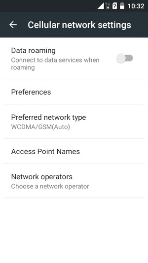Set up Internet - Itel IT1408 - Android 5 1 - Device Guides
