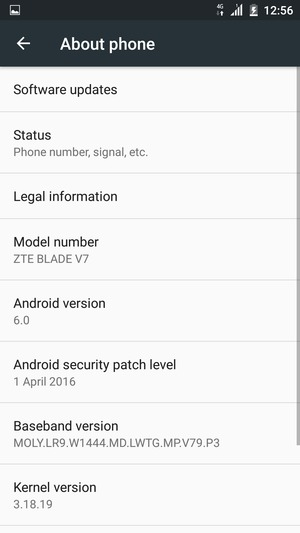 Update software - ZTE Blade V7 - Android 6 0 - Device Guides