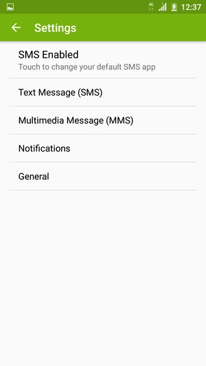 Select Text Message (SMS)