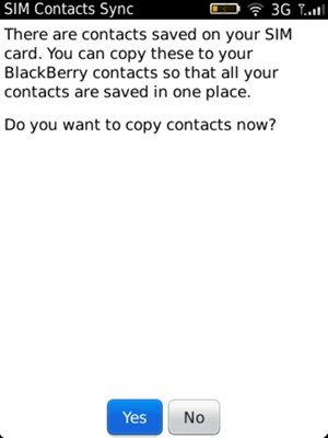 Import contacts - BlackBerry Torch 9800 - 6 0 - Device Guides