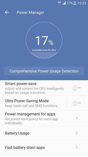 Extend battery life - ZTE Axon 7 mini - Android 6 0 - Device Guides