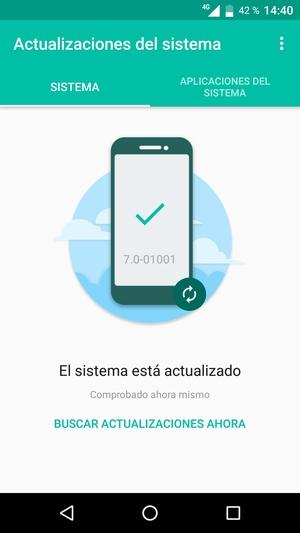 Si su teléfono está actualizado, verá la siguiente pantalla
