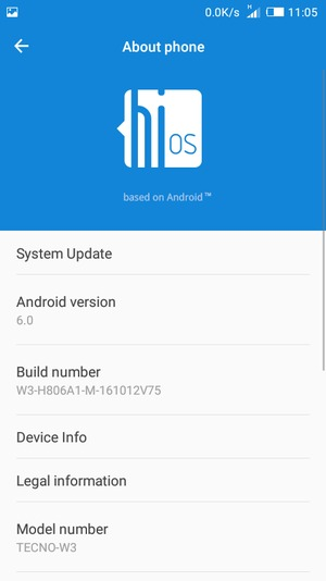 Update software - Tecno W3 - Android 6 0 - Device Guides