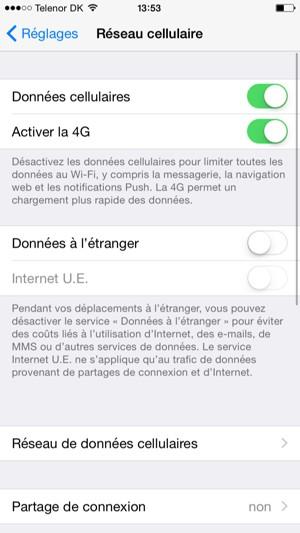 configurer l 39 itin rance apple iphone 6 plus ios 8 device guides. Black Bedroom Furniture Sets. Home Design Ideas