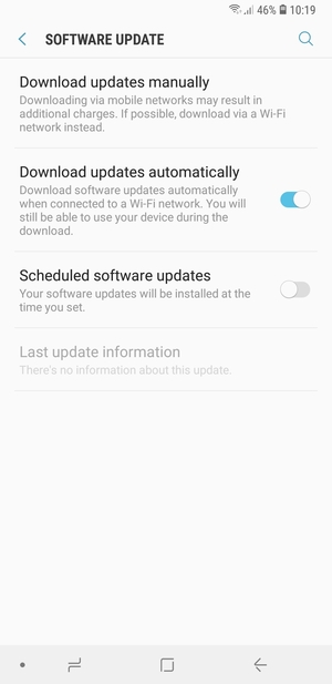 Select Download updates manually