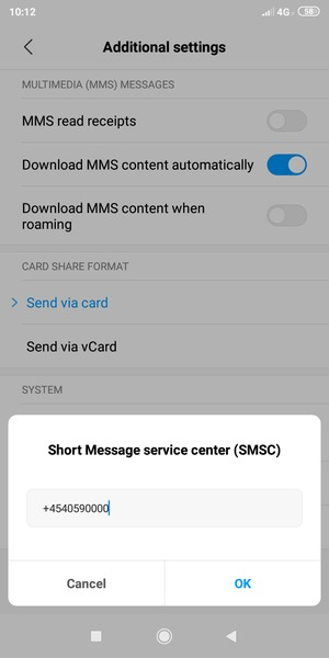 Set up SMS - Xiaomi Redmi Note 6 Pro - Android 9 0 - Device Guides