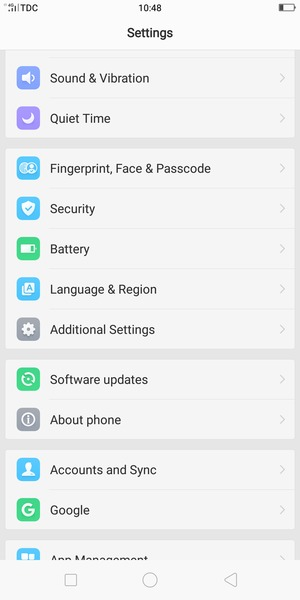 Import contacts - OPPO F5 - Android 7 1 - Device Guides