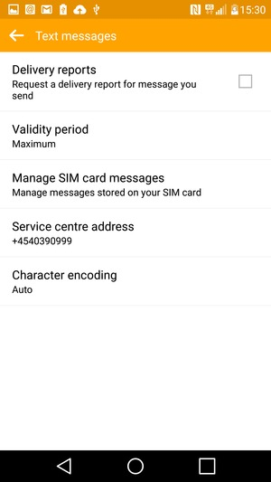 Set up SMS - LG G4 - Android 5 1 - Device Guides