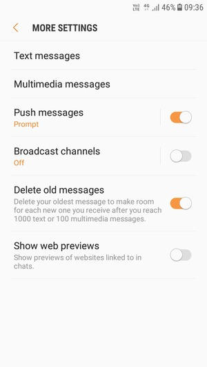Set up SMS - Samsung Galaxy J7 Pro (2017) - Android 7 0