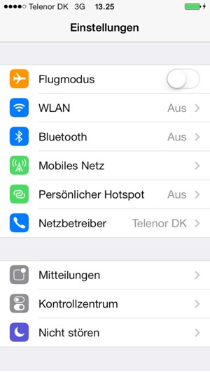 mit wlan verbinden apple iphone 5s ios 7 device guides. Black Bedroom Furniture Sets. Home Design Ideas