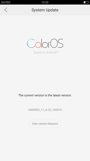 Update software - OPPO F1s - Android 5 1 - Device Guides