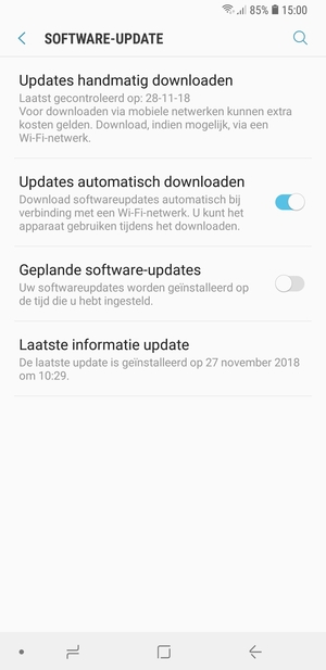 Selecteer Updates handmatig downloaden