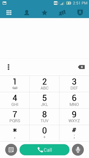 Access voicemail - Asus ZenFone 5 - Android 4 4 - Device Guides