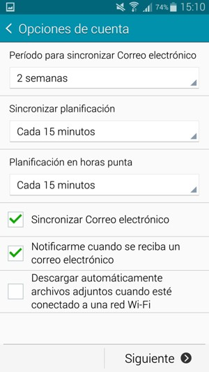 how to set up hotmail on samsung a5