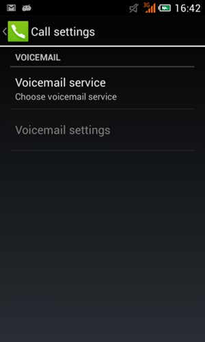 how to set voicemail number on android