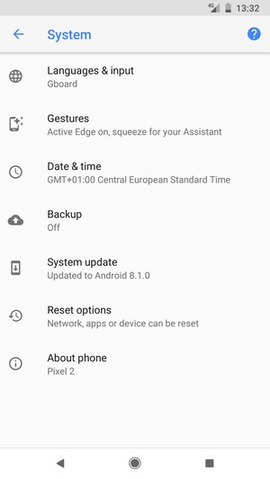 Back up phone - Google Pixel 2 XL - Android 8 1 - Device Guides