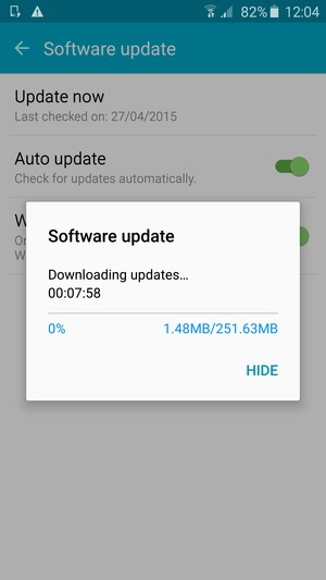 Update software - Samsung Galaxy J7 - Android 5 1 - Device Guides