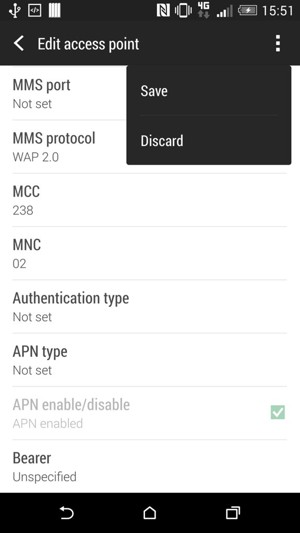 set up internet - htc desire 510 - android 4 4