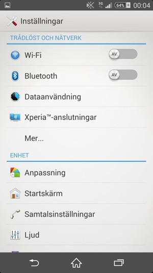 Ansluta till Wi-Fi - Sony Xperia Z3 Compact - Android 4.4 - Device ... 65c8109dc5ae0