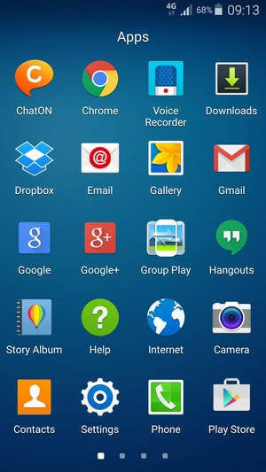 Import contacts - Samsung Galaxy S4 - Android 5 0 - Device Guides