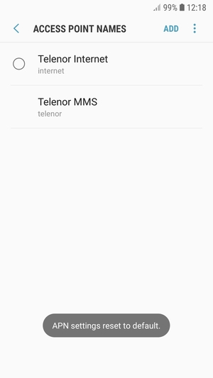 Set up Internet - Samsung Galaxy J4 - Android 8 0 - Device