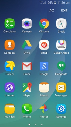 Set up Internet - Samsung Galaxy J2 - Android 5 1 - Device