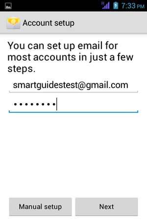 Enter your Gmail or Hotmail address and Password. Select Next