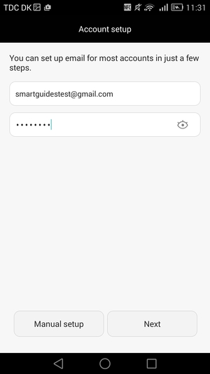 how to change gmail password in android device